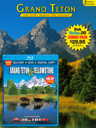 Grand Teton Book/ Grand Teton & Yellowstone Blu-ray Combo