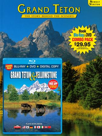 Grand Teton Book/ Grand Teton & Yellowstone Blu-ray Combo