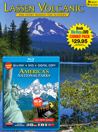 Lassen Volcanic Book/ America's National Parks Blu-ray Combo