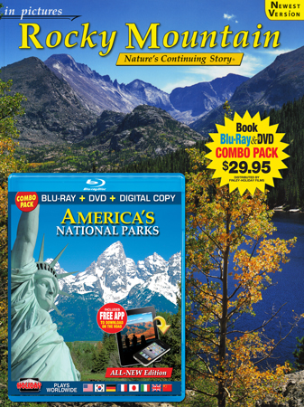 Rocky Mountain  IP Book/ America's National Parks Blu-ray Combo