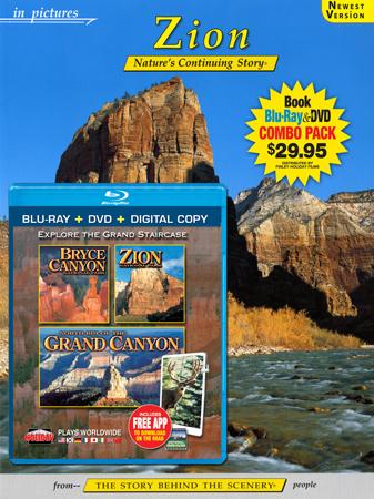 Zion IP Book/Bryce, Zion, N. Rim Grand Canyon Blu-ray Combo