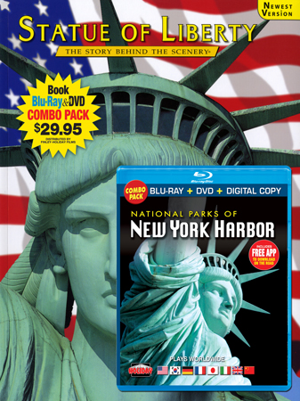 Statue of Liberty Book/Nat'l Parks of New York Harbor Blu-ray Combo